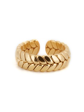 Personalized Gold Plated Titanium Gold Personalized Band Ring