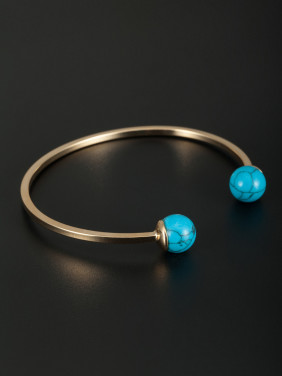 Mother's Initial Bangle with Round