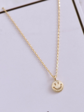 A Gold Plated 925 Silver Stylish  Necklac Of Face