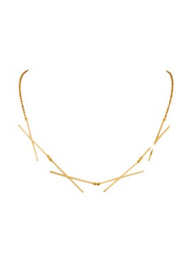 Gold Plated Copper Gold Beautiful Necklac
