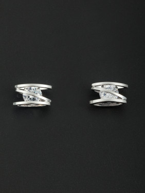 Fashion Platinum Plated Studs Earring