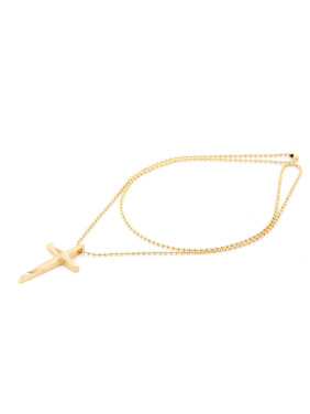 New design Gold Plated Titanium Cross necklace in Gold color