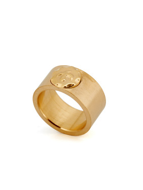 Gold Plated Titanium Animal Motif Gold Band Ring