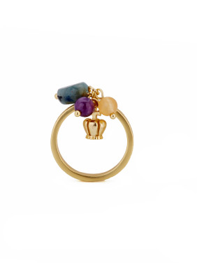 Fashion Gold Plated Copper Band Ring