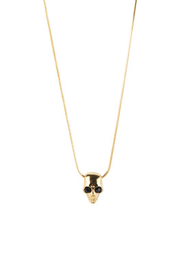 The new Gold Plated Titanium Skull necklace with Gold