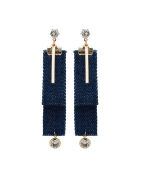 Gold Plated Zinc Alloy Personalized Rhinestone Drop drop Earring