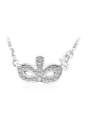 Personalized Mask Zircon Women Necklace