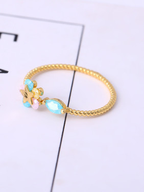 16K Gold Plated Colorful Zircon Ring