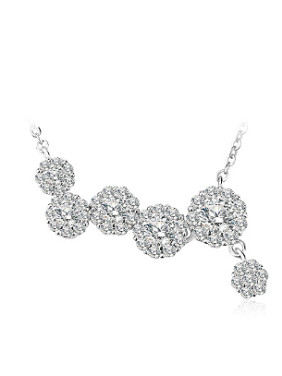 Fashion Zircon Snowball shapes Necklace