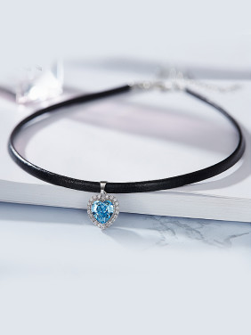 S925 Silver Leather Collar