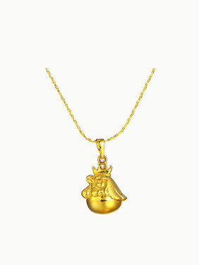 Copper Alloy 24K Gold Plated Ethnic style Cockscomb Necklace