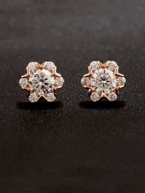 S925 Silver High Quality Zircon Snowflake stud Earring