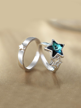Five-point Star Shaped Couple Ring