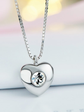 S925 Silver Heart-shaped Necklace