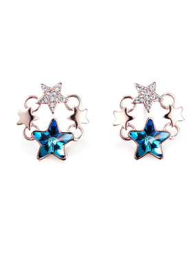 Blue Five-pointed Star Shaped Earring