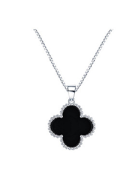 Fashion S925 Sterling Silver Flower-shaped Zircon Necklace