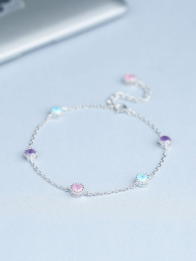 Women Trendy Multi-color Zircons Bracelet
