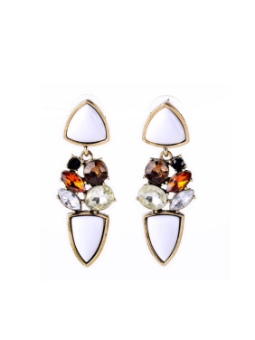 Colorful Artificial Stones Alloy Earrings
