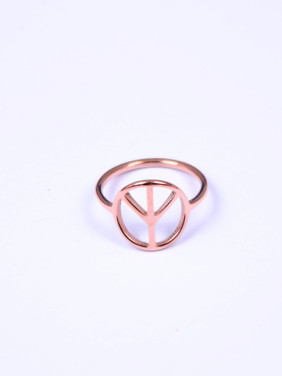 Simple Hollow Titanium Fashion Ring