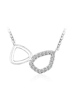 Simple Cubic Zircon Geometrical Necklace