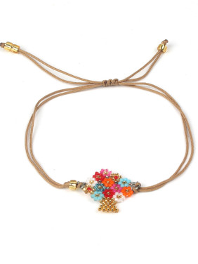 Colorful Flower Accessories Woven Rope Bracelet