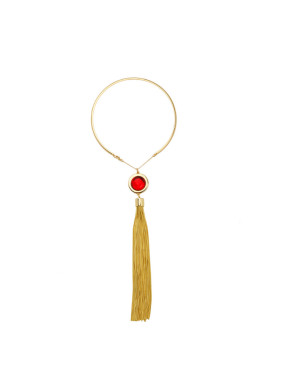Long Tassel Pendant Women' s Necklace