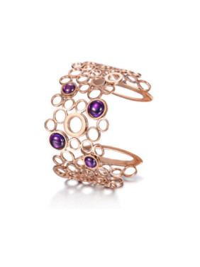 The Twist Circle And The Purple Opal Opening Bracelet