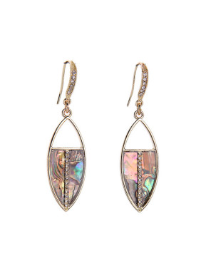 Colorful Artificial Stones Hook Earrings