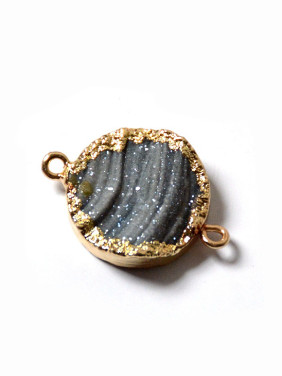 Fashion Agate Stone Round Gold Plated Pendant