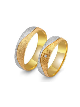 Gold Polished Lovers Rings