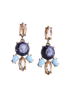 Leaves-shape Women Stud Chandelier earring