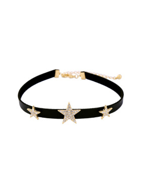 Black Artificial Leather Choker