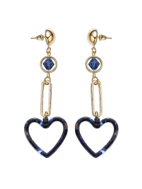 Gold Plated Heart-shaped Earrings