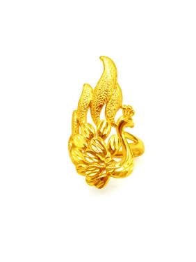 Exquisite Peacock Shaped Women Ring