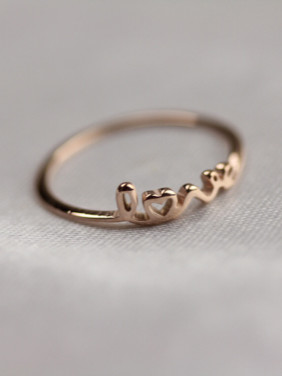 Letter Pattern Fashion Titanium Ring