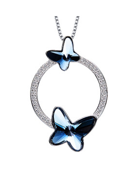 Butterfly Shaped Crystal Necklace