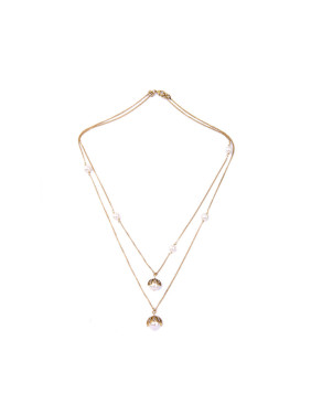 Double-layer Simple Style Women 's Necklace