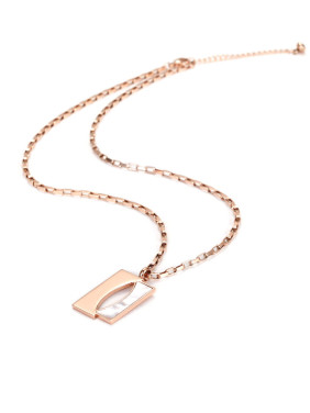 Stainless Steel Rose Gold Shell Necklace