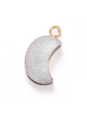 Simple Moon-shaped Natural Crystal Pendant