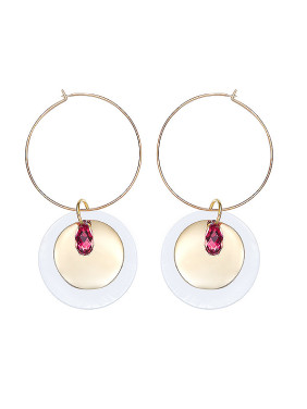 Round-shaped Swarovski Crystals Earrings