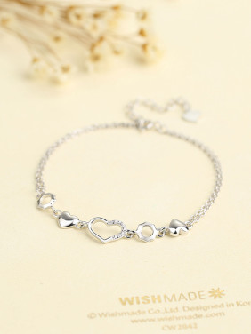 Women Fresh Heart Shaped Bracelet