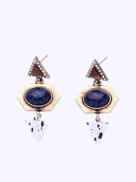Geometric Stones Retro Stud drop earring