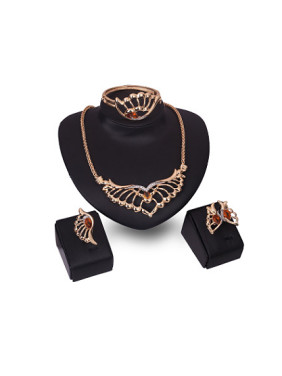 Alloy Imitation-gold Plated Vintage style Artificial Stones Four Pieces Jewelry Set