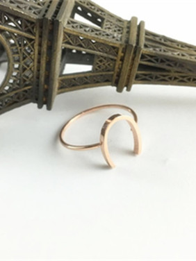 Simple Personality U Shaped Ring