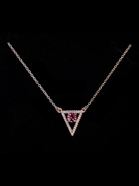 Rose Gold Triangle Shaped Necklace