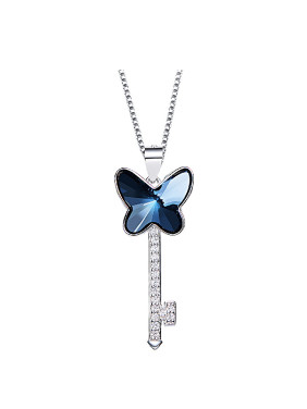 S925 Silver Butterfly Shaped Necklace