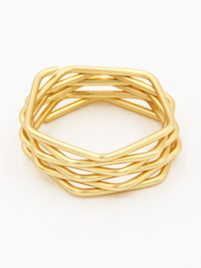 color Gold Plated Geometric  Ring