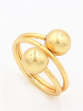 Custom  Round Ring with Gold Plated