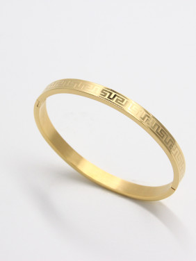 Custom Gold  Bangle with Stainless steel   59mmx50mm