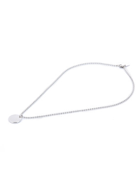 Round style with Silver-Plated Titanium necklace